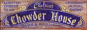 Personalized, Chelsea's Chowder House Antiqued Wood Sign