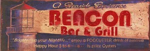 Personalized, Beacon Bar and Grill Antiqued Wood Sign