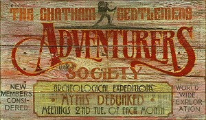 Personalized, The Adventurers Club Antiqued Wood Sign