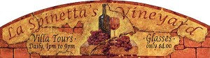 La Spinetta's Vineyard Antiqued Wood Sign