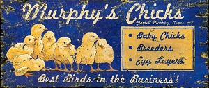 Personalized, Murphy's Chicks Antiqued Wood Sign