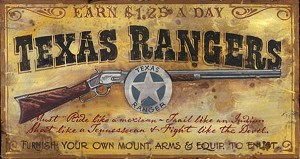 Personalized, Texas Rangers Vintage Antiqued Wood Sign