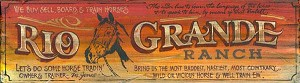 Rio Grande Ranch Antiqued Wood Sign