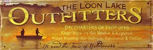 Personalized, The Loon Lake Outfitters Antiqued Wood Sign