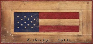 Flag Antiqued Wood Sign