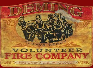 Fire Department Vintage Antiqued Wood Sign