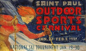 Saint Paul Outdoor Sports Carnival Antiqued Wood Sign