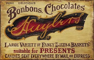 Personalized, Chocolate Shop Antiqued Wood Sign