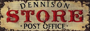 Personalized, Dennison Store Post Office Antiqued Wood Sign