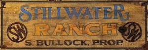 Personalized, Stillwater Ranch Vintage Antiqued Wood Sign