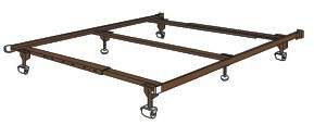Queen Tall-Man Size Metal Bed Frame