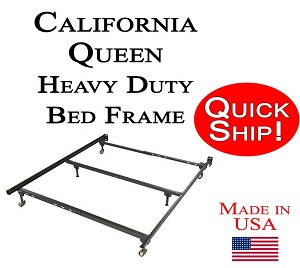 California Queen Size Metal Bed Frame