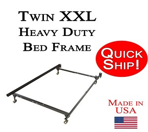 Twin XXL Quick Ship Tall-Man Metal Bed Frame