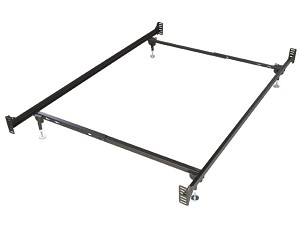 Bolt on Twin Size Metal Bed Frame for headboard and footboard