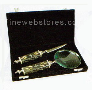 Magnifier Glass and Letter Opener with box