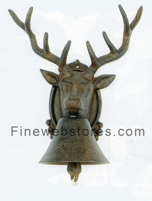 Cast Iron Deer Bell