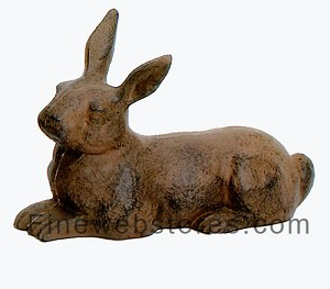 Laying Rabbit Cast Iron Door Stop