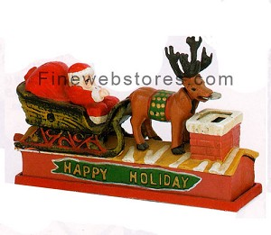 Santa and Sleigh Bank