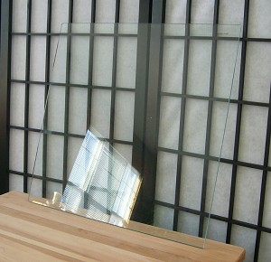 "Tempered Glass Panel Clear Approx. 17 1/4"" x 17 11/16"""