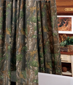 Hardwoods Camouflage Shower Curtain Set