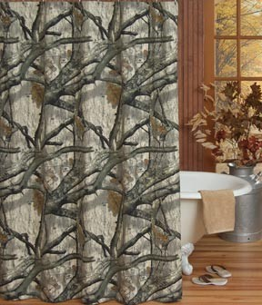Treestand Camouflage Shower Curtain Set