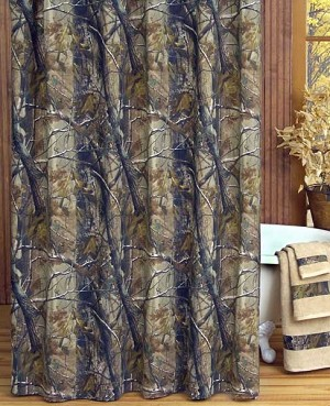 All Purpose Camouflage Shower Curtain Set