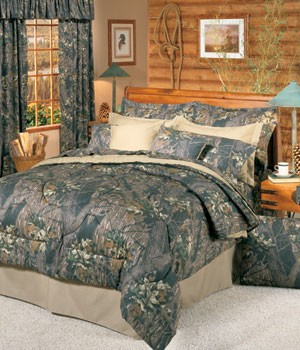 Camouflage California King Size Sheet Set Break Up