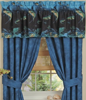 Coral Reef Ocean Designer Window Curtains