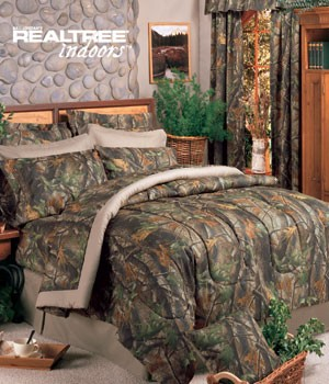 Camouflage Full Size Sheet Set Hardwoods