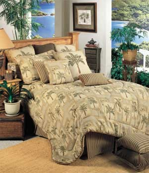 Palm Grove Tropical Comforter and Bedding