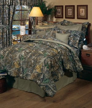 Camouflage Queen Size Sheet Set Timber