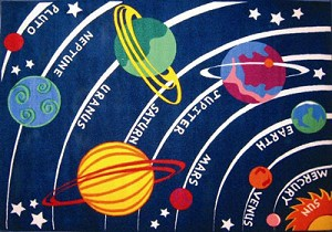 Solar System Rug 5 Ft. 3 In. X 7 Ft. 6 In.
