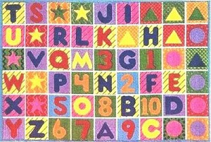 Numbers And Letters Rug 5 Ft. 3 In. X 7 Ft. 6 In.