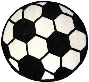 "Soccerball Rug 39"" Round"