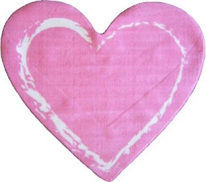 "Pink Heart Rug 35"" X 39"""