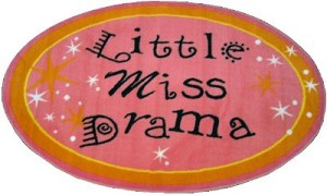 "Little Miss Drama Rug 31"" X 51"""
