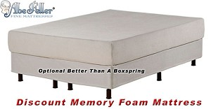 "Full Or Double Discount Memory Foam Mattress 10"" Thick"