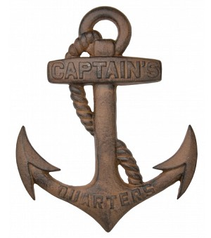 Captains Quarters Anchor Plaque