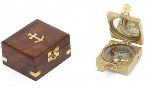 Square Brunton Compass With Box