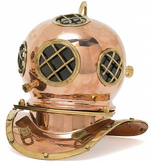 Reproduction Copper Diving Helmet