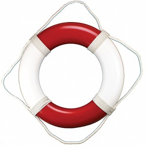 Red Life Ring Wall Decor
