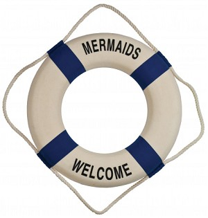 Mermaids Welcome Life Ring Wall Decor