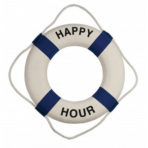 Happy Hour Life Ring Wall Decor