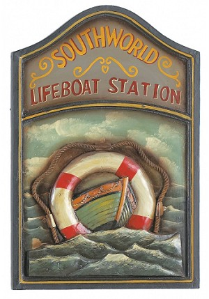 Life Boat Pub Wood Sign