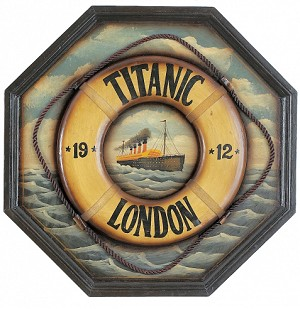 Titanic Life Ring Wood Sign