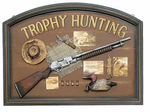 Trophy Hunting Wood Sign