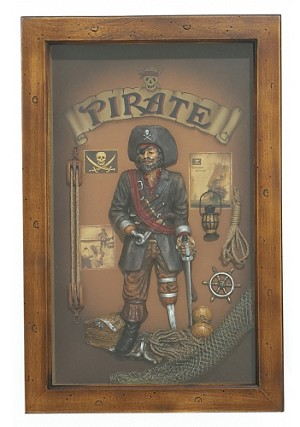 Pirate Showcase Wood Sign