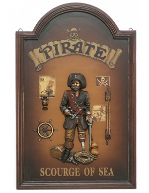Pirate Wood Pub Sign