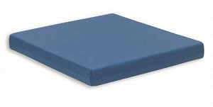 Memory Foam W/C Cushion With Navy Poly Nylon Cover