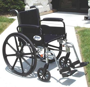 K3 Wheelchair Light weight 16 inches with DDA and ELR's